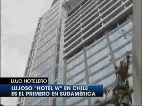 Hotel w santiago de chile youtube for Piscina hotel w santiago
