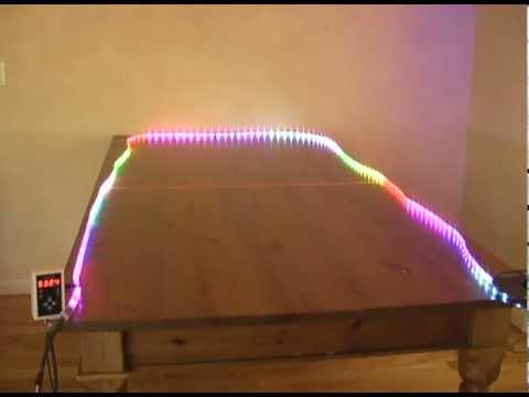 led light strip demo dream color 5050 rgb 150led 6803 chip 94 programs youtube. Black Bedroom Furniture Sets. Home Design Ideas