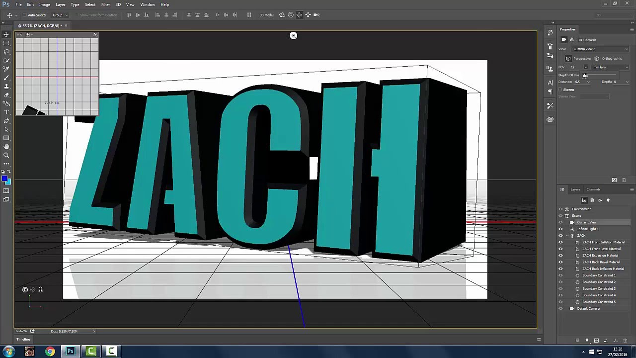 OMGTutorials - HOW TO MAKE 3D TEXT ON PHOTOSHOP CC 2015