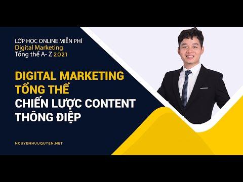 Digital Marketing tổng thể - Chiến lược content - thông điệp
