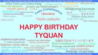Tyquan   Languages Idiomas - Happy Birthday