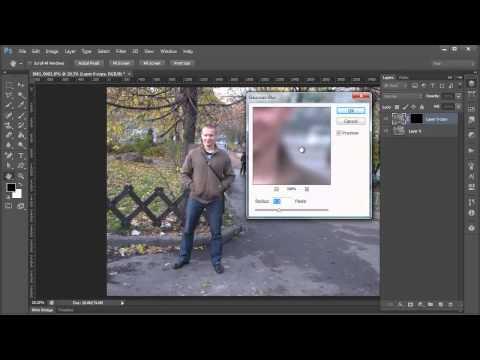 Photoshop - использование маски и размытия по Гаусу