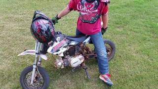 Ssr 70c pit bike and an 8 year old rider