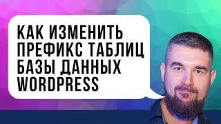 как изменить префикс таблиц базы данных WordPress с помощью плагина All In One WP Security