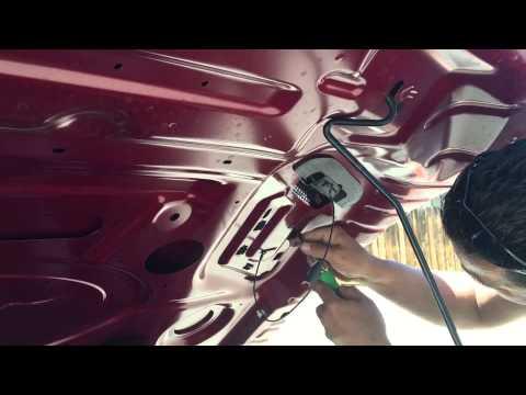 Hcm Carbon 2015 Mustang GT carbon fiber hood vents installation