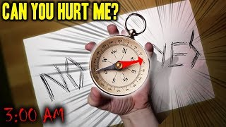 *SCARY* DO NOT PLAY THE COMPASS GAME AT 3 AM!!! (I SAW A DEMON!)