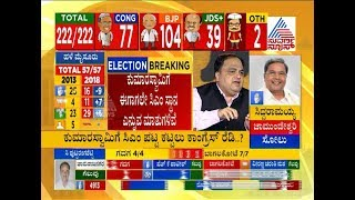 Elections Result LIVE: Alliance Ball In Deve Gowda's Court | CM Siddaramaiah Press Meet