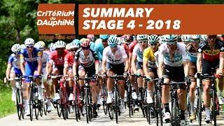 Summary - Stage 4 (Chazey-sur-Ain / Lans-en-Vercors) - Critérium du Dauphiné 2018