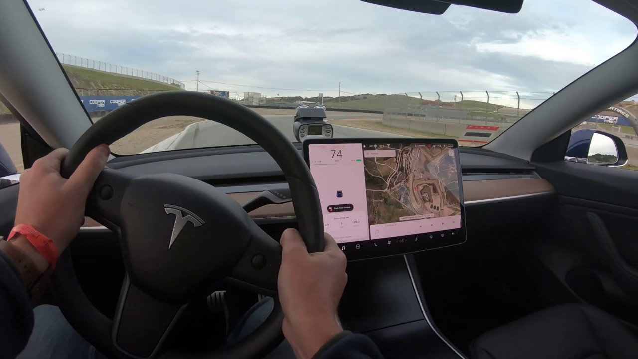 Tesla Model 3 Perfomance Laguna Seca lap video | Autoblog