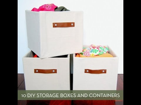 10 DIY Storage Boxes, Baskets And Containers   YouTube