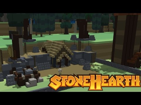 Town Quarry and Mine | Stonehearth | Alpha 17 | Gameplay