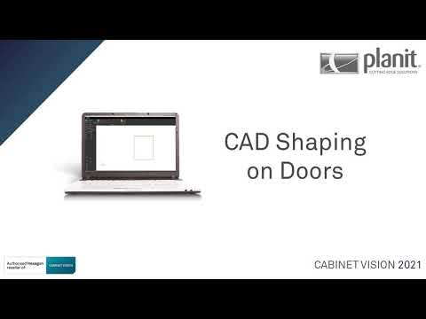 Use CAD Shaping on Door Parts | CABINET VISION 2021
