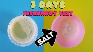 3 Days Pregnancy Test With Women Pregnant 🤰  - Positive Prengnacy Test With Salt ✅