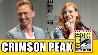 Crimson Peak Comic Con Panel - Tom Hiddleston, Jessica Chastain, Mia Wasikowska, Guillermo del Toro