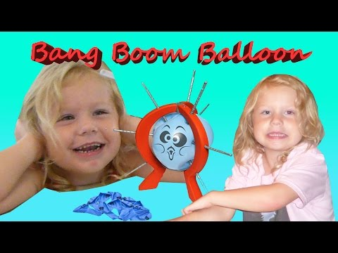 BANG BOOM BALLOON POKING GAME! Don't pop the balloon with Harzel!