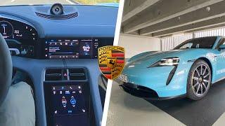 Porsche Taycan 4S: Navigation, Apple Music \u0026 Infotainment im Test   alle Funktionen