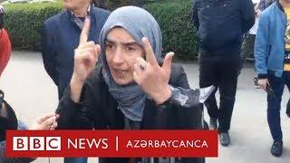 """""""Azad söz deməyə qoymurlar"""", Müsavatın piketində baş verənlər"""