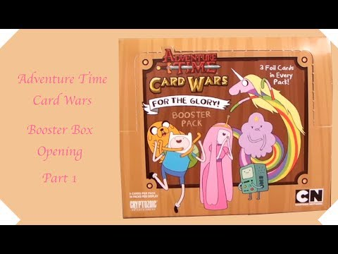 Adventure Time Card Wars Booster Box Opening Part 1