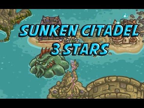 Sunken Citadel - 3 Stars Veteran - Kingdom Rush Frontiers Rising Tides