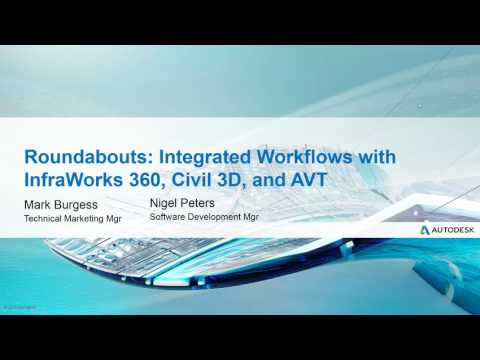 Webcast June 23rd: Roundabouts - Integrated workflows with InfraWorks 360, Civil 3D and AVT
