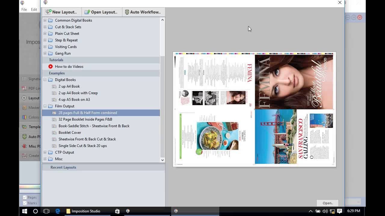 How To Create A 4 Up Book Imposition Layout For Offset Printing
