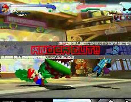 MUGEN:super mario 64. VS. scary people