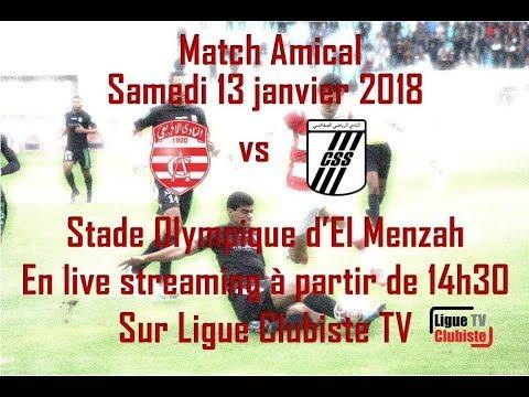 Live Match Amical : Club Africain - Club Sportif Sfaxien