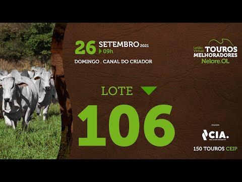 LOTE 106 - LEILÃO VIRTUAL DE TOUROS 2021 NELORE OL - CEIP