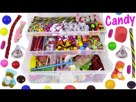 DIY Candy Survivor TACKLE BOX! Yummy SWEETS! Spicy Marshmallows Gummy Candies! FUN