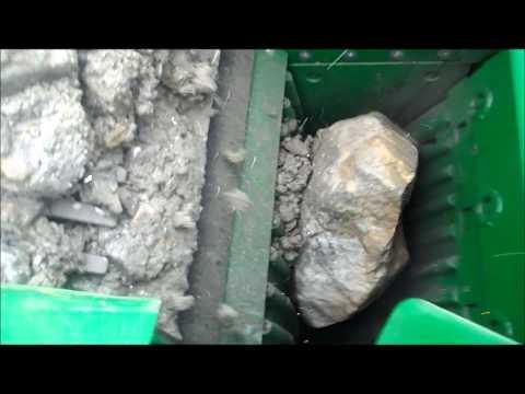 Дробилка для щебня - дробление серного колчедана