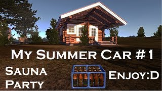 My Summer Car - Sauna party at the cottage island