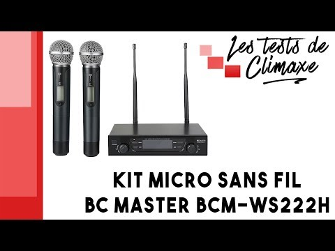 Test d'un kit micro sans fil BC Master BCM-WS222H