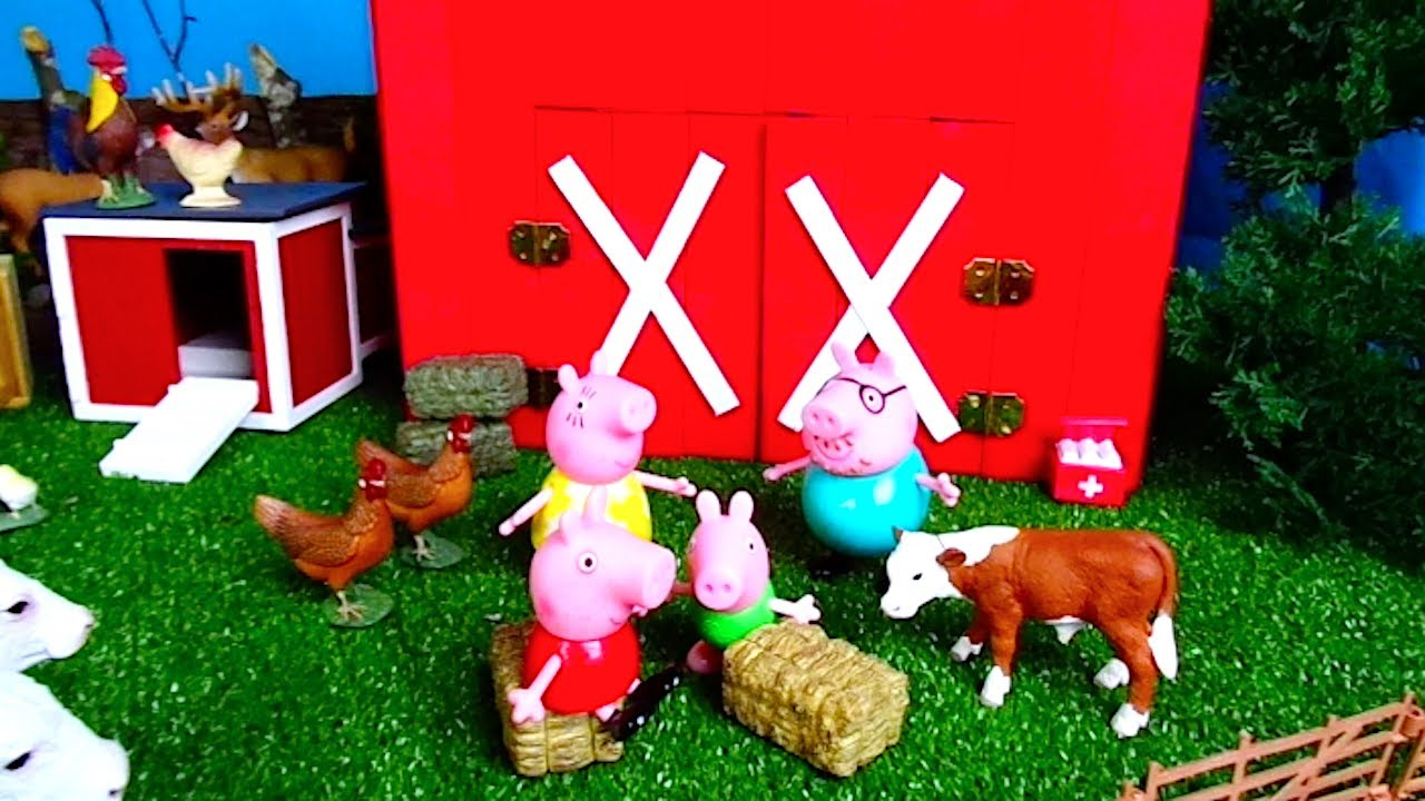Peppa Visits the Farm - Learn Animals   Educational Videos For Kids