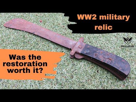 WW2 Folding Machete restoration.
