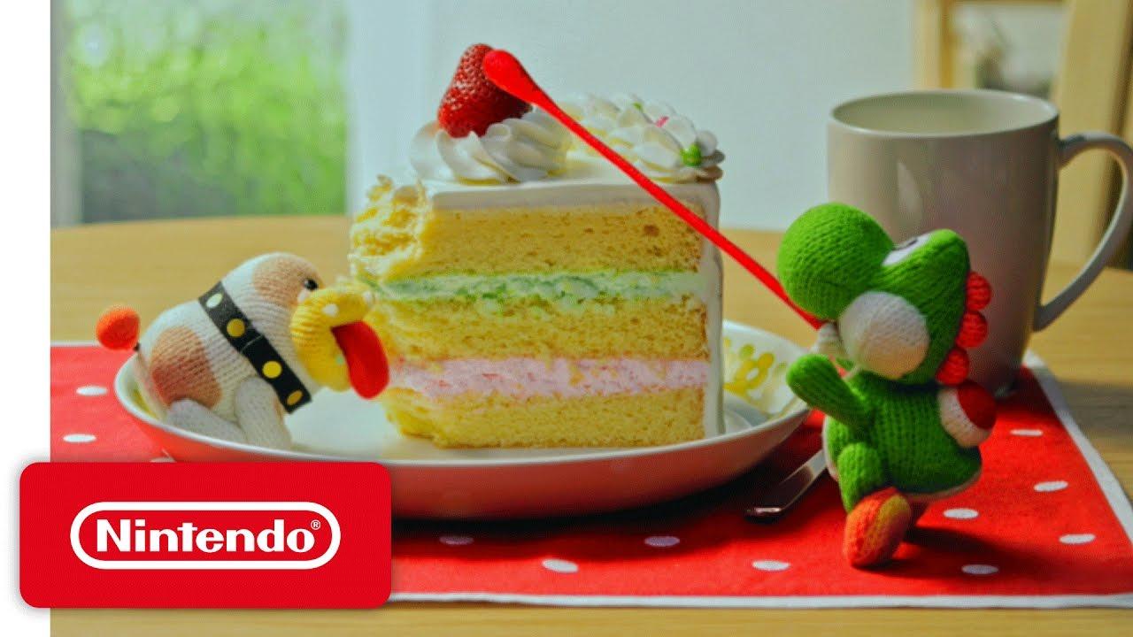 Poochy Amp Yoshi S Woolly World Cake Youtube