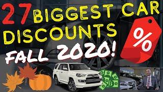 27 Biggest Fall Car Price Discounts (Best Car Deals October 2020)