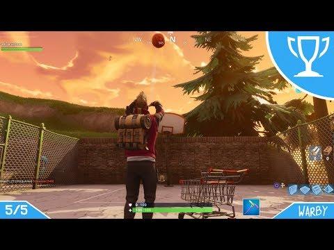 Fortnite Battle Royale - All Basketball Hoop Locations (Week 2 Challenges)