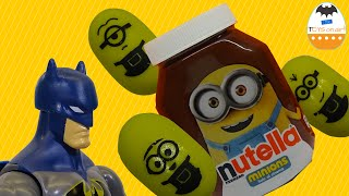 BATMAN unboxing Banana MINIONS 2015 NUTELLA Tic Tac Limited Edition