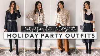 What to Wear to a Holiday Party - Capsule Closet Holiday Party Outfits | by Erin Elizabeth
