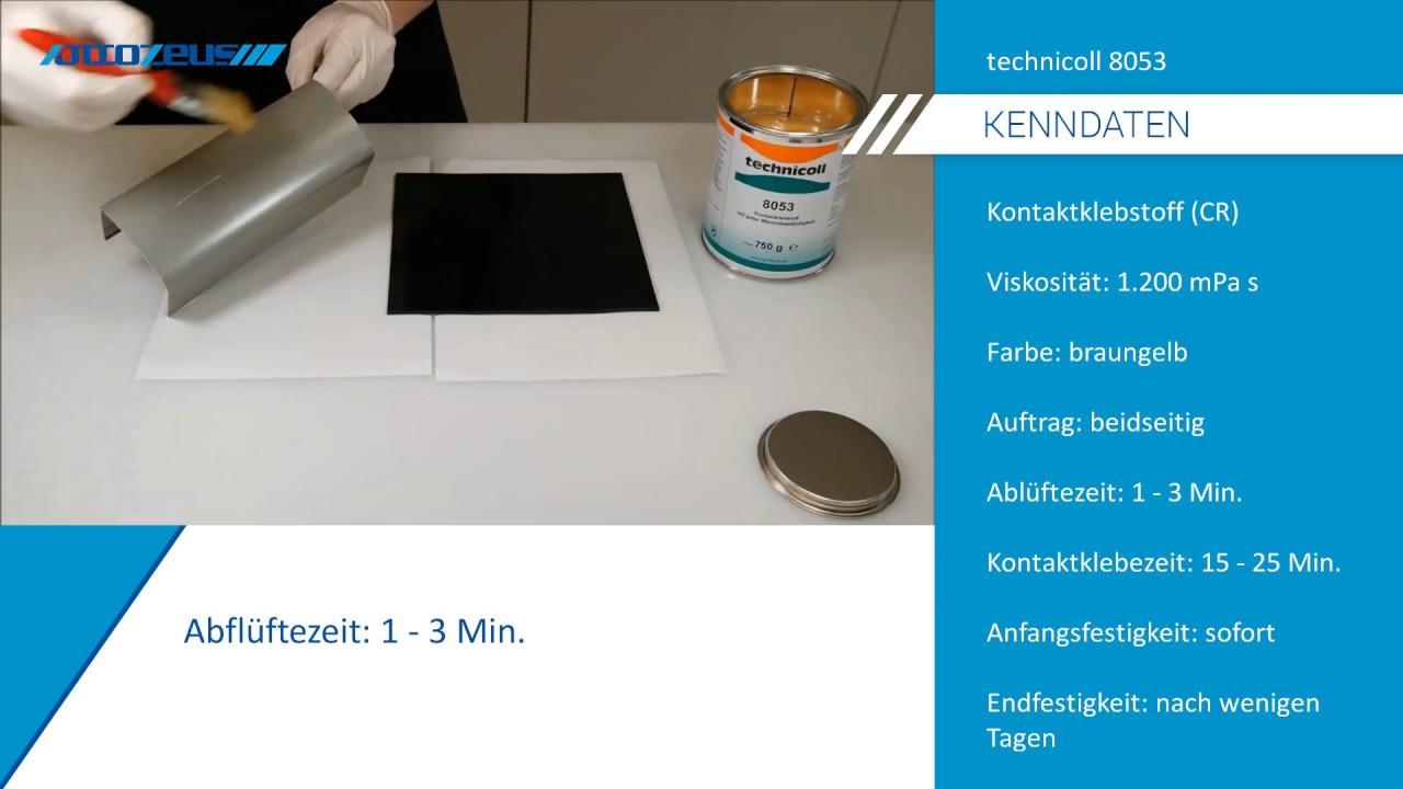 Extrem Gummi mit Aluminium kleben mit technicoll 8053 - YouTube MD74