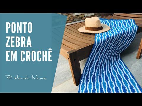 Ponto Zebra em Crochê, para fazer Tapetes, Mantas , passadeiras , trilhos de mesa e muito mais