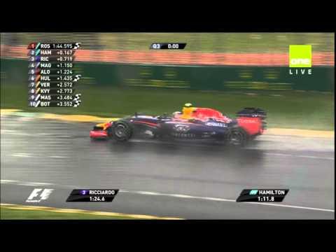 Crowd reaction as Daniel Ricciardo gets pole
