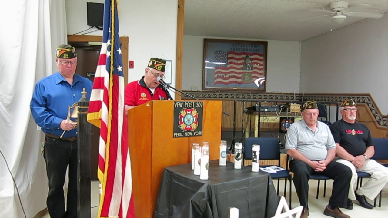 Memorial Day Service - Peru VFW Post 309  5-27-19