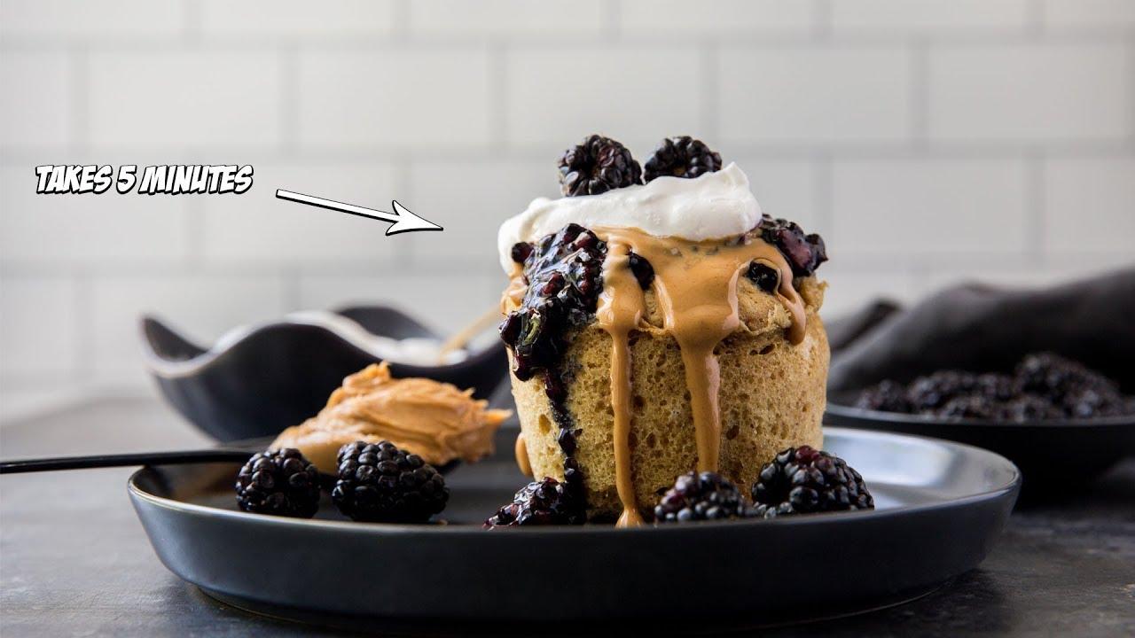 Peanut Butter and Jelly Keto Mug Cake Recipe | 5 Minutes ...