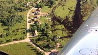 C-GYXQ Scugog flight. Rick and Barbs canal and house.
