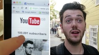 I HIT 100,000 SUBSCRIBERS! : Vlogtober Day 6 Thumbnail