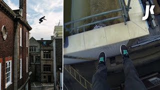 Parkour and Freerunning on Rooftops of Cambridge | James Kingston POV Adventures