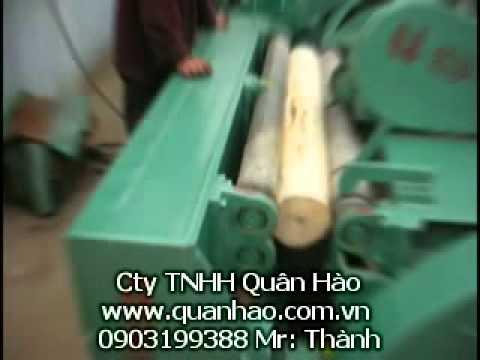 may lang vo tam máy lạng vô tâm may lang go tron máy lạng gỗ tròn Spindleless Rotary Veneer Lathe machine~1