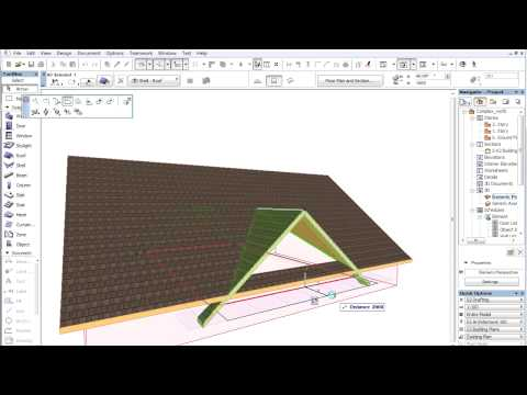 Complex roofs in ARCHICAD – Cross-gable roof