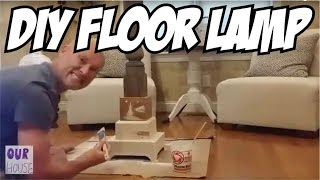 DIY Home Decor - How To Chalk Paint and Build a Floor Lamp